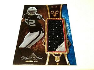 Khalil Mack 2014 Topps Triple Threads BlueGold RC Auth. Mem. Jumbo Jersey #/10