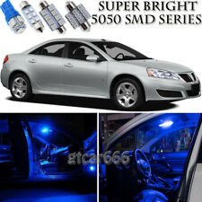 7pcs 5050 SMD Blue LED Interior Lights Bulb Package Kit For Pontiac G6 2005-2010