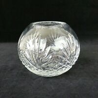 Wedgwood MAJESTY Rose Bowl Cut Crystal 4 7/8 Inches Cut Fans & Criss Cross