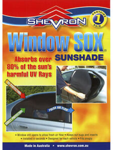 Shevron Window Sox Sun Shades For Daihatsu, Toyota Duet Sirion Storia (82WS1008)