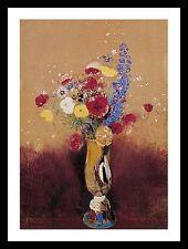 Odilon Redon Bouquet of Flowers poster stampa d'arte con telaio in alluminio nero 60x48cm