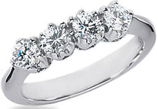 0.81 carat DIAMOND WEDDING RING Anniversary Band  F color VS clarity 4 x 0.20 ct