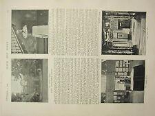 1898 PRINT ~ LORD LEIGHTON'S HOUSE GARDEN BUST STUDIO ARAB HALL