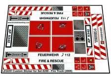 Precut Custom Replacement Stickers voor Lego Set 8289 - Fire Truck (2006)