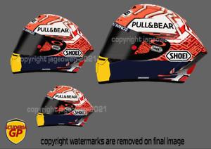 Marc Marquez Helmet Sticker MotoGP Honda - Scuderia GP