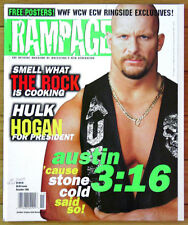 Rampage Magazine #1 - Stone Cold, Sting, Taz, The Rock, Paul Wight  - Brand New!