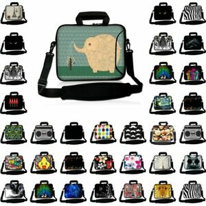 Neoprene Sleeve Laptop Computer Case Bag with Handle Fit 10 inch to 17 inches