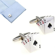 Poker Shaped Jewelry Shirt Cufflinks Cuff Buttons Silver Color Cuff Link For Men