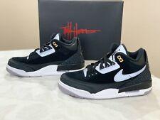 "Air Jordan 3 Retro TH ""Tinker Hatfield"" Black Cement Gold, Size 7 BNIB $200 CK43"