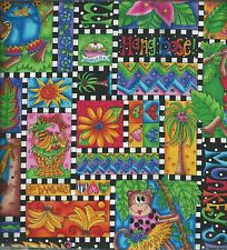 Fabric ~ Kari Pearson ~ Jungle / Monkeys ~ 100% Cotton ~  1 Yard