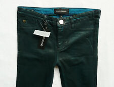 River Island Jeans Size 10 R super skinny leather look  green jeggings 30/30