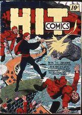 Hit Comics #4 Photocopy Comic Book Hercules, The Red Bee, Neon, Strange Twins