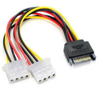 15Pin SATA Male to Double 4 Pin Molex Female IDE HDD Power HardDrive Cable  EP