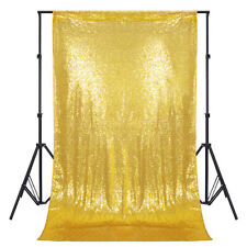 4x7ft Sequin Fabric Photography Backdrop Curtain Photo Booth For Wedding Party
