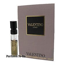 VALENTINO UOMO for MEN * NEW Fragrance EDT Travel Spray Carded Vial Sample