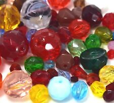 "Czech Fire Polished Beads Assorted Sizes "" Mixture # 1 ""55 Grams"