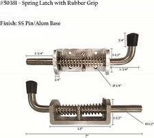 ONE Spring Latch with rubber Grip - Aluminum 50381