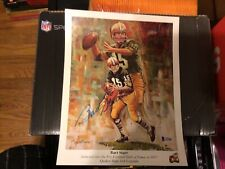 Bart Starr Autographed Green Bay Packers Football HOFer 9x12 Print Beckett COA