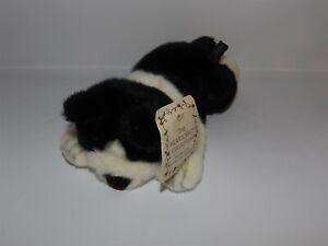 "NWT 10"" Heartcraft Collection Russ Plush FRAZIER Black & White CAT Kitten #3484"