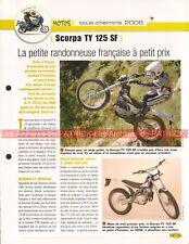 SCORPA TY 125 SF 2006 Joe Bar Team Fiche Moto #006609