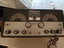 vintage HALLICRAFTERS SX-99 ham radio receiver with MISCO speaker powers up
