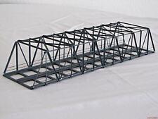 H0 K42S-2 Kastenbrücke 42cm grau schräg zweigleisig Hack 11300