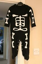 George Baby boy girl Halloween costume outfit skeleton sleepsuit 12-18 months