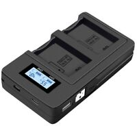 Np-Fw50 Camera Battery Charger Npfw50 Fw50 Lcd Usb Dual Charger For A6000 51 M5L