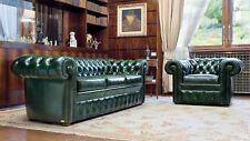 Sofagarnitur 3+1 Chesterfield Polster Sofa Sitz Garnitur Klassische Couch Leder