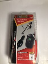 VERIZON WIRELESS ESSENTIALS PACKAGE LG VX4500 HEADSET LEATHER CASE CHARGER