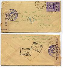 REGNO, ANNULLO OZIERI SASSARI, GIU 1943, C50 ROSSINI + TIMBRI CENSURA     m