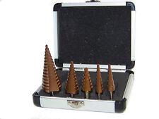 5pc Step Drill Bit Cobalt Hss 4 to 32 mm 15 steps bit Metric sizes Tool