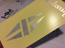 Gibson LP Diamond Custom Headstock Fake White MOP Logo (Vinyl Sticker)