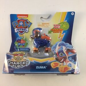 Paw Patrol Mighty Pups Charged Up Zuma Figure New 2019 Spin Master New Sealed