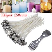 100Pcs Natural Cotton Core Waxed Candle Wicks 21yarn 15cm for Candle DIY Making