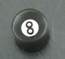 Horn PLUG 8 Ball Old School Piercing 12MM Ohrpiercing für gedehnte Ohrlöcher