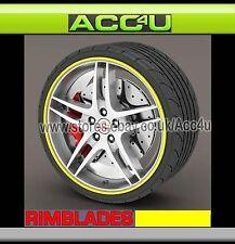 Rimblades YELLOW Car 4x4 Alloy Wheel Rim Edge Lip Protectors Styling Strip Kit