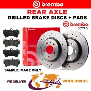 BREMBO Rear Axle BRAKE DISCS + PADS SET for BMW 3 F30, F35, F80 320 i 2012-2018