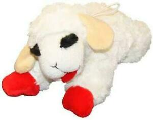 Lamb Chop for Dog Toy - 10 Inch - Squeaks Fun Multipet Soft Plush Dog Toy