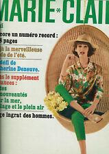 REVUE MARIE CLAIRE N°103 1963 colette catherine deneuve nanon thibon  mode