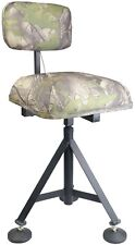 Camo Swivel Padded Shooting Chair Rotating Adjustable Hunting Stool Hide Seat