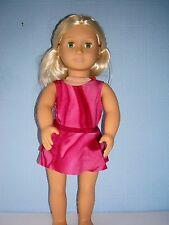 "Handmade Justaucorps & jupe ideal for AMERICAN GIRL 18"" Fashion Doll Silve Glitt"