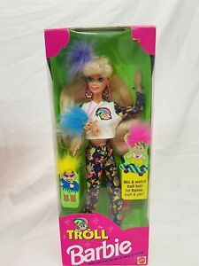 1992 TROLL Barbie Doll Long Blonde Hair #10257 NRFB