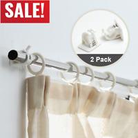 2Pcs Nail-free Adjustable Rod Bracket Holders Magic Wall Curtain Hanging Rod DE