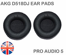 Leather ear pads for AKG 518DJ & AKG K81DJ - 75MM -  Sony MDR-NC6 - QUALITY - UK