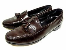 TOWNCRAFT MENS LOAFERS TASSEL BURGUNDY LEATHER SHOES SIZE 13 D