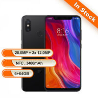 Global 6.21Zoll Xiaomi Mi 8 64GB Smartphone Schwarz 4G Handy ohne Simlock FaceID