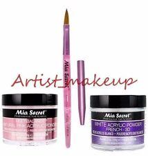 Mia Secret Acrylic Nail Powder White + Multibalance 2 oz + Kolinsky Brush# 8 OR
