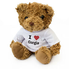 NEW - I LOVE CORGIS - Teddy Bear - Cute Soft Cuddly - Dog Gift Present Birthday