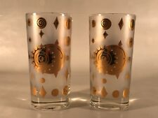 Vintage Las Vegas Vibe Set of 2 Glasses with Gold & Clear Glass - Popular Design